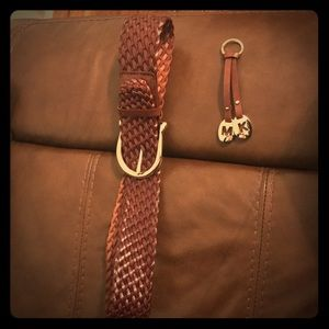 Trendy Michael Kors Authentic Brown braided belt!